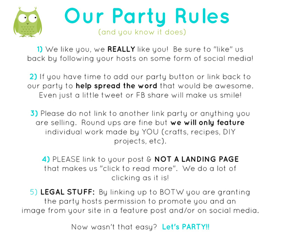 botw party rules 2014 - Halloween Party Rules