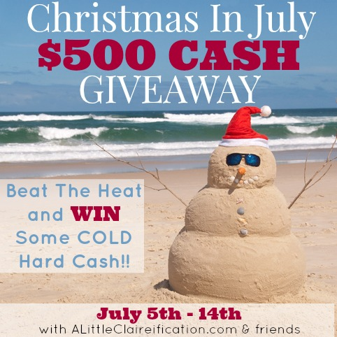 Christmas In July Giveaway at ALittleClaireification.com