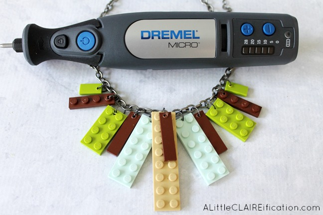 DIY Lego Necklace - so easy to make and endless holiday gift possibilities!