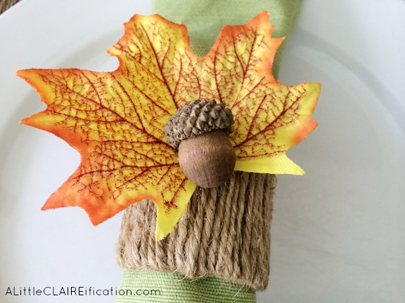 Diy Thanksgiving Acorn Napkin Rings Holiday Crafts A Little