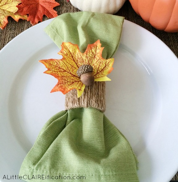 Diy thanksgiving acorn napkin rings holiday crafts a for Diy fall napkin rings