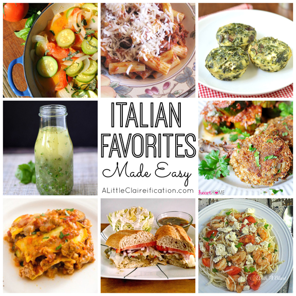 Easy Italian Recipes at ALittleClaireification.com