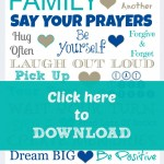 Free Family Rules Printable   Love One Another. Or Else. ;)