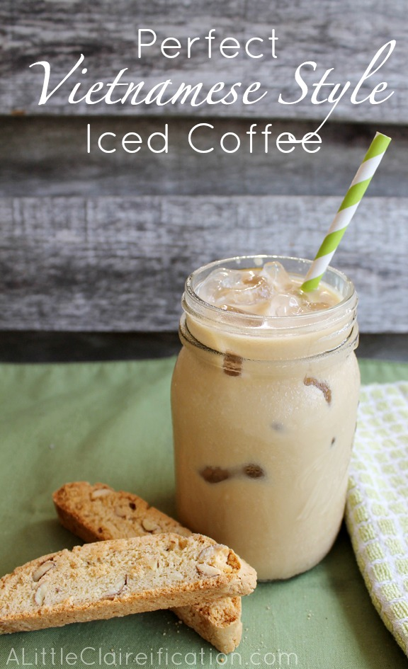 How To Make Perfect Vietnamese Style Iced Coffee at ALittleClaireification.com #recipe