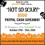 Not So Scary Halloween Giveaway | $500 Paypal Cash!!