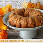 Pumpkin Monkey Bread with Brown Sugar Glaze