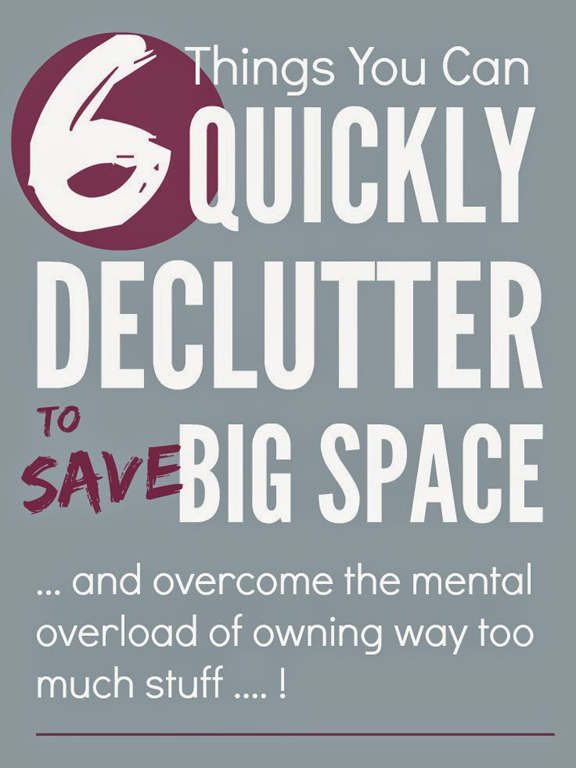 Quickly Declutter and Save Big Space