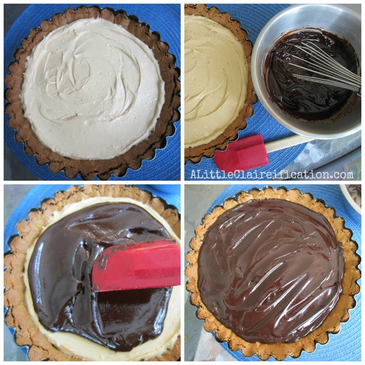 Chocolate Peanut Butter Tart by ALittleClaireification.com #dessert #recipe @ALittleClaire