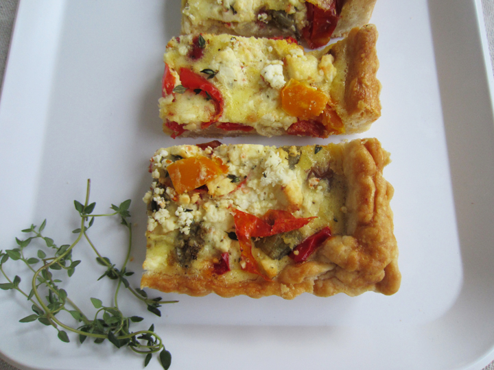Roasted Vegetable Tart at ALittleClaireification.com #tart #recipe @AlittleClaire