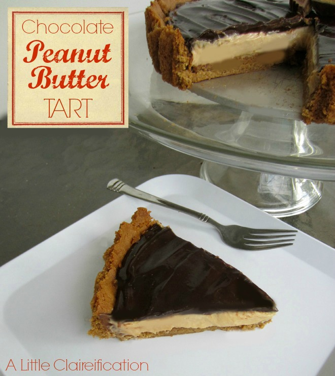 Chocolate Peanut Butter Tart by ALittleClaireification.com #dessert # ...