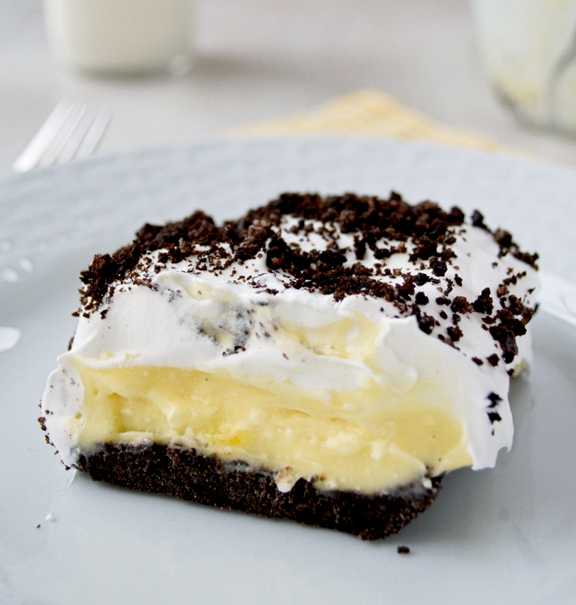 Oreo Pudding Cake by Kitchen Gidget
