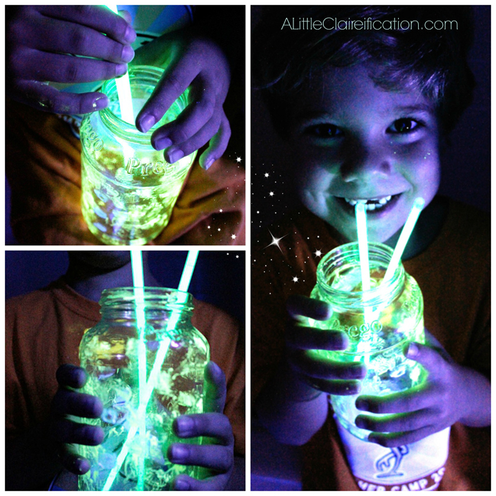 DIY Glow Jars with ALittleClaireification.com #PlaidSummerKids #Crafts #DIY