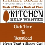Home Is In The Kitchen | A Foodie Inspired Free Printable