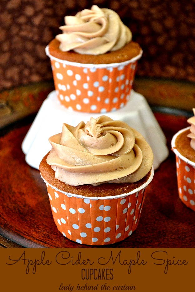 Apple Cider maple Spice Cupcakes & more | Best Of The Weekend Party with ALittleClaireification.com #linky #party #recipes #crafts @ALittleClaire
