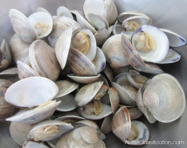 once steamed all of the clams should have popped open