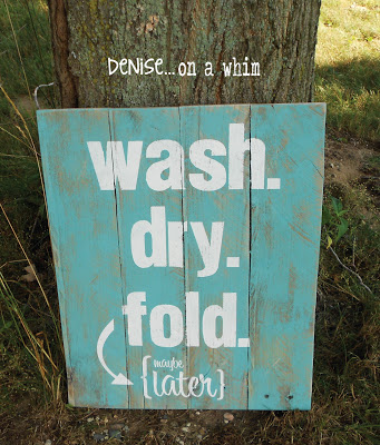DIY Laundry Room Pallet Sign and more | Best Of The Weekend Party w/ ALittleClaireification.com #free #printable #DIY