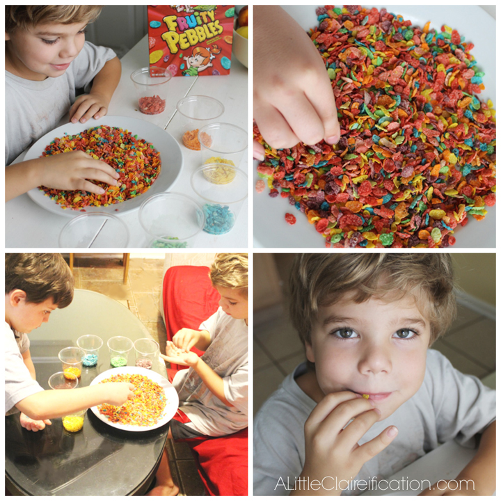 Super fun  & Easy Fruity Pebbles Parfait at ALittleClaireification.com #recipes #kids #PebblesBTS  #PMedia
