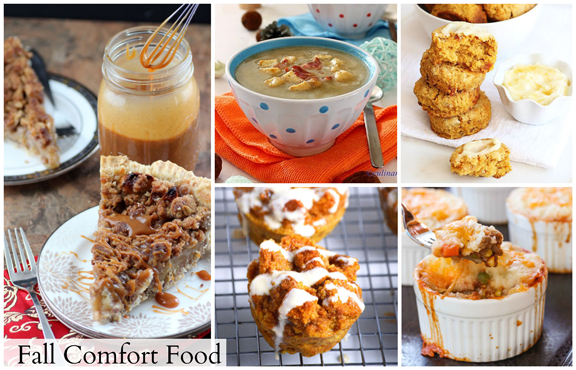 Fall Comfort Food Recipes - perfect for Thanksgiving or just to warm your belly on a chilly evening!
