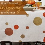 DIY Hand Painted Thanksgiving Table Runner | Thankful At Home