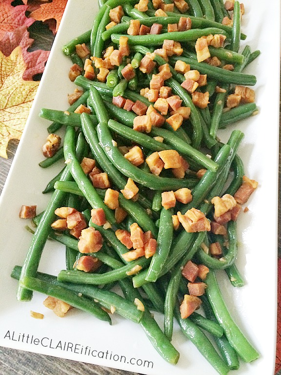 Balsamic Green Beans With Pancetta - Easy and Delicious Thanksgiving Side Dishes