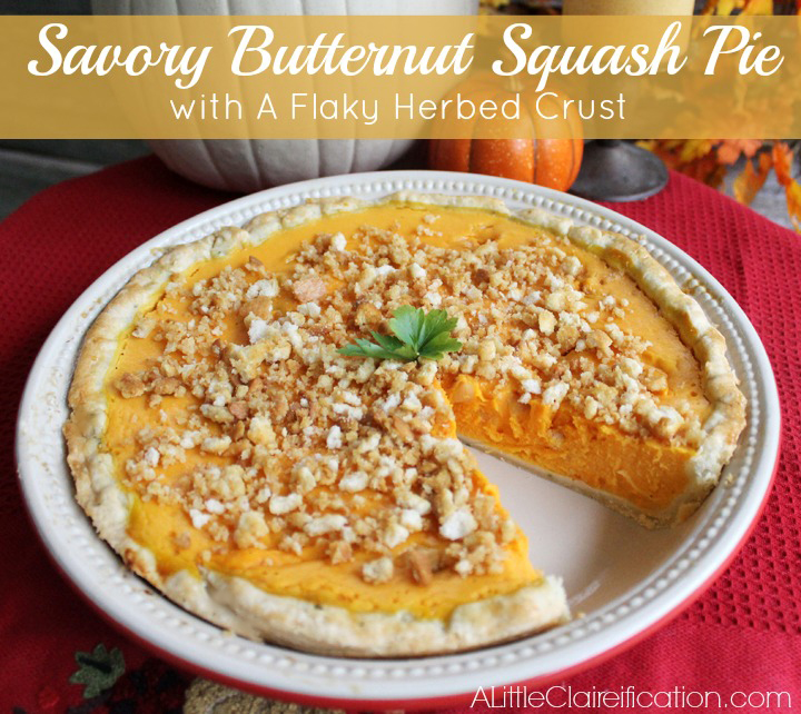 Savory Butternut Squash Pie at ALittleClaireification.com