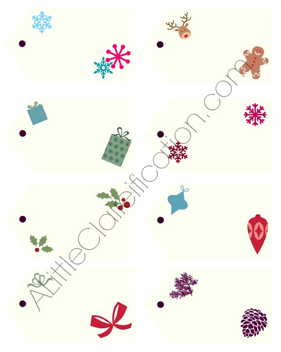 Free Printable Gift Tags at ALittleClaireification.com #free #printables #holidays #crafts