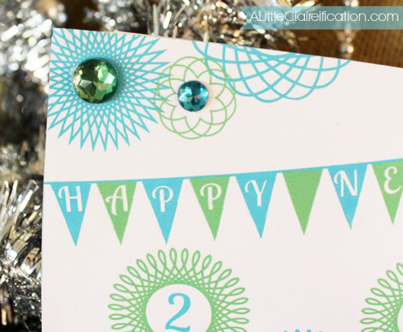 Free Printable New Years Greeting Cards at A LittleClaireification.com #NewYears #Printables #Free