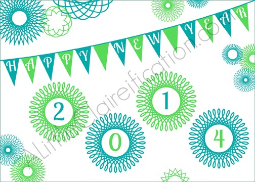 Free Printable New Year\'s Greeting Cards - A Little Claireification