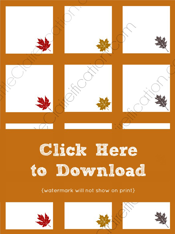 graphic relating to Thanksgiving Place Cards Printable named Cost-free Printable Thanksgiving Issue Playing cards Thanksgiving
