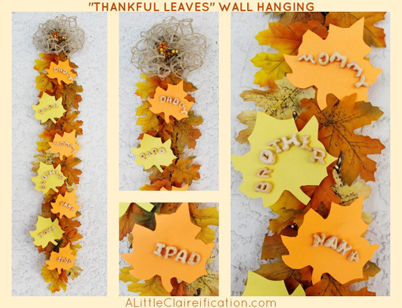 Thankful Leaves Thanksgiving Wall Hanging At ALittleClaireification Crafts
