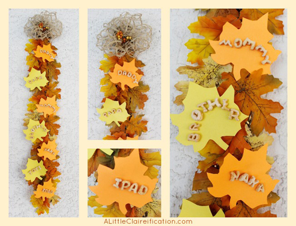Thankful leaves thanksgiving wall hanging kids crafts - Craft ideas for wall hangings ...