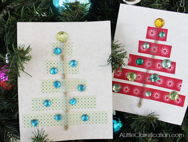 Diy Washi Tape Holiday Cards A Little Claireification