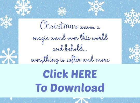 Free Christmas Printable Art -  at ALittleClaireification.com #free #printables #holidays #crafts