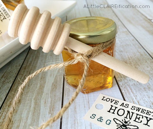 Honey Jar Wedding Favors and free printable labels