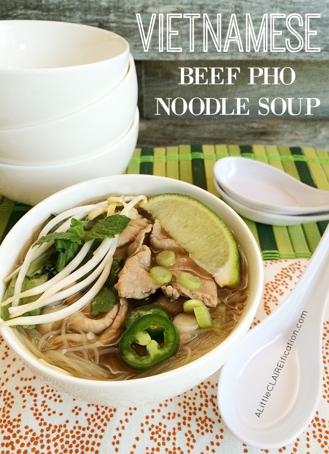 Copycat Homemade Vietnamese Beef Pho Noodle Soup - you can make this at home and the flavors are amazing
