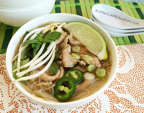 Copycat Homemade Vietnamese Beef Pho Noodle Soup - A Little Claireification