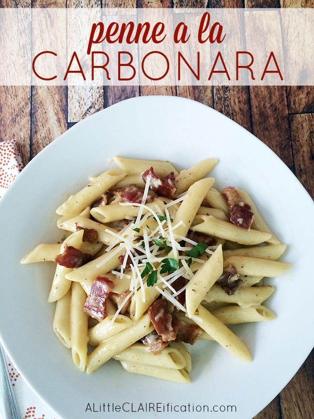 Penne a la Carbonara Recipe - hearty and delicious Italian fare that you can make at home