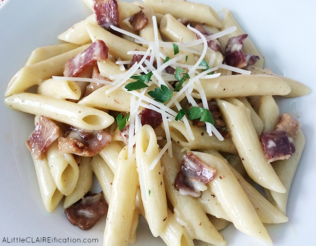 Penne a la Carbonara - delicious Italian fare that you can make at home