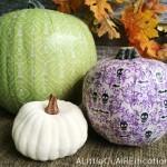 Scrapbook Paper Pumpkins and Fall Decor Inspiration