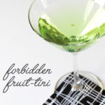 Forbidden Fruit-ini Cinnamon and Apple Valentine Day Cocktail