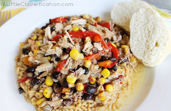 Crockpot Jamaican Jerk Pork Chops at ALittleClaireification.com #slowcooker #recipe