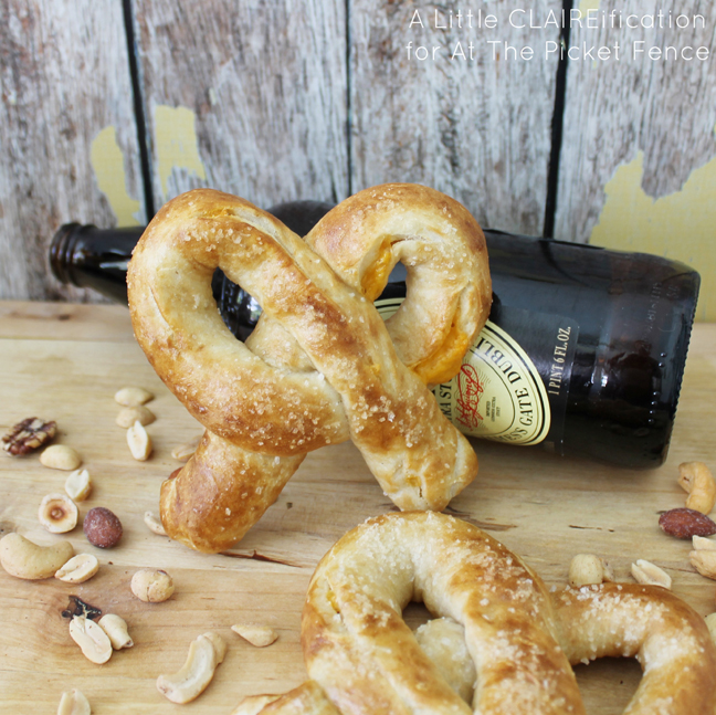 Beer Cheese Stuffed Pretzels #recipe