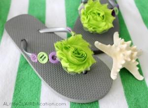 Embellished Summer Flip Flops